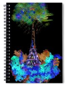 Eiffel Tower Topiary Spiral Notebook