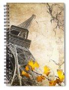 Eiffel Tower Vintage Collage Spiral Notebook