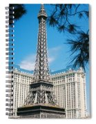 Eiffl Tower Vegas Spiral Notebook