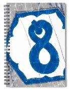 Eight Blue Tile Spiral Notebook