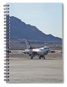 Eight F-16 Thunderbird Falcon's On Static Display Nellis Spiral Notebook