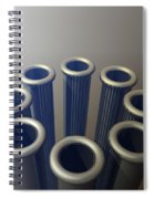Eight Metallic Tubes Spiral Notebook