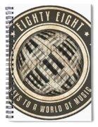 Eighty Eight Keys Spiral Notebook