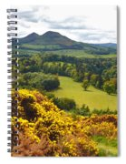 Eildon Hill - Three Peaks And A Valley Spiral Notebook
