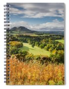 Eildon Hills In Autumn Spiral Notebook