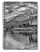 Eilean Donan - A Reflection Without Colour Spiral Notebook
