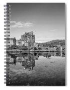 Eilean Donan Castle Black And White Spiral Notebook