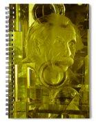Einstein In Crystal - Yellow Spiral Notebook