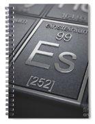 Einsteinium Chemical Element Spiral Notebook