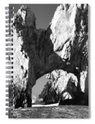 El Arco In Black And White Spiral Notebook
