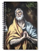 El Greco's The Repentant Saint Peter Spiral Notebook