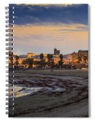 El Rompidillo Beach Panorama Cadiz Spain Spiral Notebook