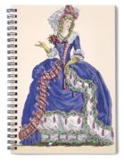 Elaborate Court Dress In Electric Blue Spiral Notebook
