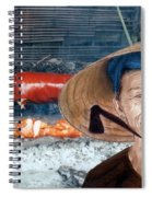 Elderly Vietnamese Woman Wearing A Conical Hat Altered Version Spiral Notebook