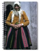 Elderly Woman Spiral Notebook