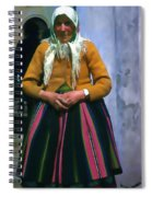 Elderly Woman Stylized Digital Art Spiral Notebook