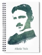 Electric Arc Lamp Patent Art Nikola Tesla Spiral Notebook