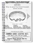 Electric Belt Ad Spiral Notebook