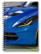 Electric Blue Corvette Spiral Notebook