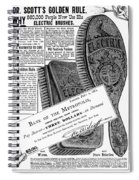 Electric Brushes, 1882 Spiral Notebook