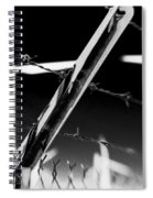 Electric Fence Black And White Spiral Notebook
