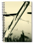 Electric Fence Silhouette Spiral Notebook