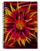 Electric Firewheel Flower Artwork Spiral Notebook