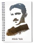 electric generator patent art Nikola Tesla Spiral Notebook