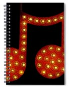 Electric Notes Spiral Notebook
