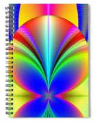 Electric Rainbow Orb Fractal Spiral Notebook