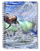 Electric Splash Spiral Notebook