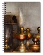 Electrician - A Collection Of Oil Lanterns  Spiral Notebook