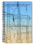Electricity Pylons Standing In A Row Spiral Notebook