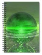 Electronic Green Saturn Spiral Notebook