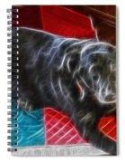 Electrostatic Dog And Blanket Spiral Notebook