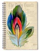 Elegant Feather-b Spiral Notebook