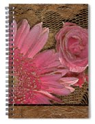 Elegant Gold Lace Spiral Notebook