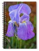 Elegant Iris Spiral Notebook