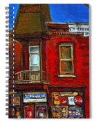 Elegant Victorian Beauty By Carole Spandau Montreal Memories Painter -art Historian Montreal Spiral Notebook