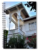 Elegant White House And Balcony Spiral Notebook