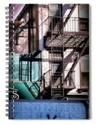Elemental City - Fire Escape Graffiti Brownstone Spiral Notebook