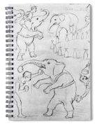 Elephant Acts, 1880s Spiral Notebook