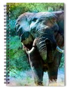 Elephant - Featured In Comfortable Art- Wildlife- And Nature Wildlife Groups Spiral Notebook