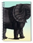 Elephant From The Historiae Animalium 16th Century Spiral Notebook