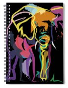 Elephant In Colour Spiral Notebook