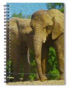 Elephant Snuggle Spiral Notebook