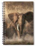 Elephant Stampede Spiral Notebook