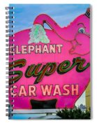 Elephant Super Car Wash Spiral Notebook