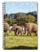 Elephant Train  Spiral Notebook