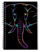 Elephant Watercolors - Black Spiral Notebook